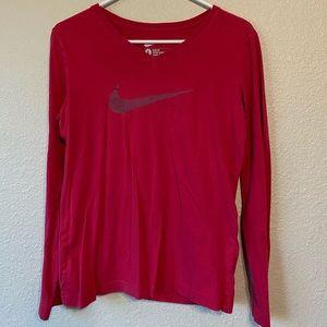 Pink longsleeve Nike shirt